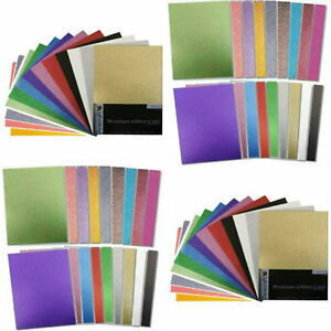 A4-Glitter-Card-18-Assorted-Colours-On-Dovecraft-Premium-A4-220gsm-Card