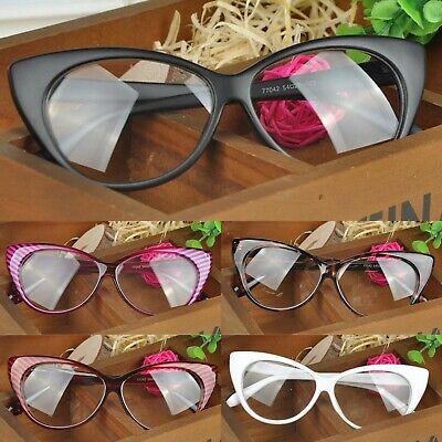 Neu Damen Durchsichtige Linse Sexy Cat Eye Mode Brille - Cat Eye Brille Kostüm