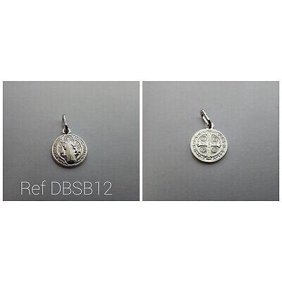 Medalla San Benito en plata de ley 12 MM( NUEVO)