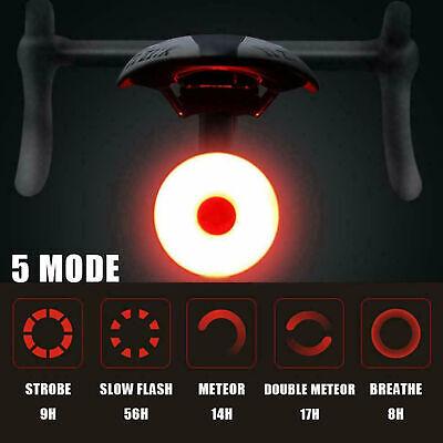 Bicicleta trasera luz trasera LED USB recargable bicicleta casco de la lámpara