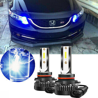 Ice Blue Projector Lens LED Daytime Running Light for Honda Accord -