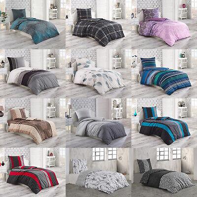 2 tlg Renforce Baumwolle Bettwäsche Bettbezug Set Reißverschluss 135x200 155x220