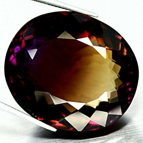 70.58 CT AAA! PURPLE & GOLDEN BOLIVIA AMETRINE OVAL