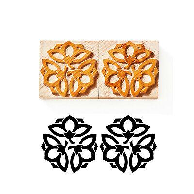 Letterpress Japanese Ornament No. 03 - Wood Type 6 Line 245 Mm - 2 Pieces