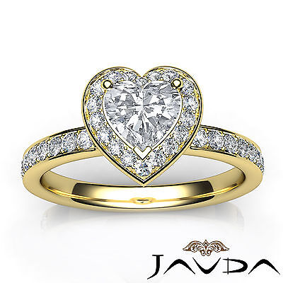 Cathedral Halo Pave Setting Heart Cut Diamond Engagement Ring GIA F VVS2 1.16Ct 3