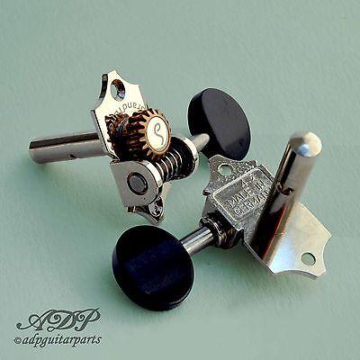 Machine Heads Schaller Grand Tune 3+3 Slotted 1:18 Nickel Tuners Ebony Button