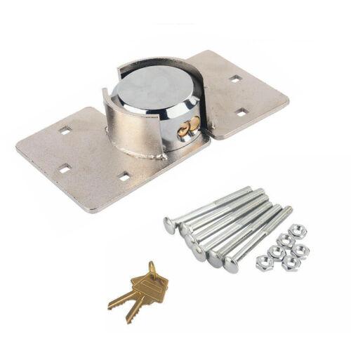 Heavy Duty Steel Padlock Hasp Safety Door Garage Shed Van Lock w/ Nuts 73mm