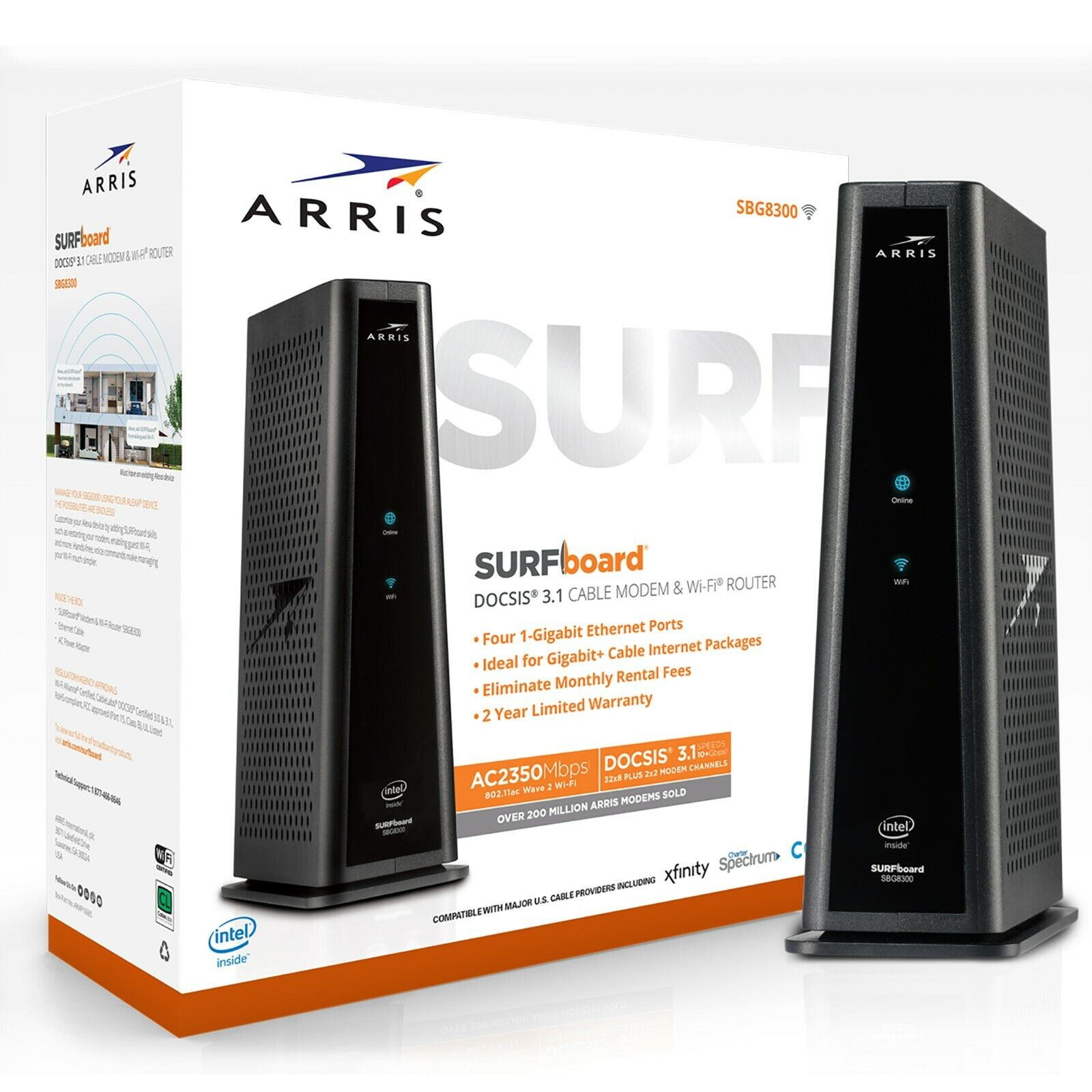ARRIS SURFboard DOCSIS 3.1 SBG8300 Dual-Band Wi-Fi Router NE