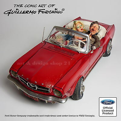 GUILLERMO FORCHINO - Comic Art Skulptur - `65 FORD MUSTANG CONVERTIBLE - FO85079