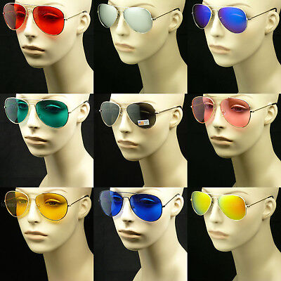SUNGLASSES AVIATOR MEN WOMEN NEW LENS FRAME COLOR RETRO 1950  1960 1970 1980