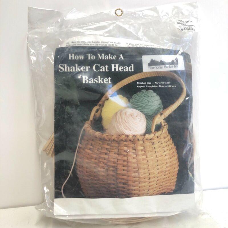 "Vintage Blue Risge Shaker Cat Head Basket Kit 7.5x10x10"" 5 hrs"