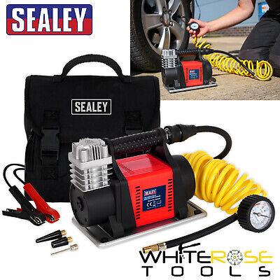 Sealey Neumático Inflador Mini Compresor Aire 12V Resistente Portátil Bomba Del