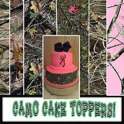 Camouflage edible Cake tops or side strips topper sugar sheets picture image - Camouflage Birthday Cake