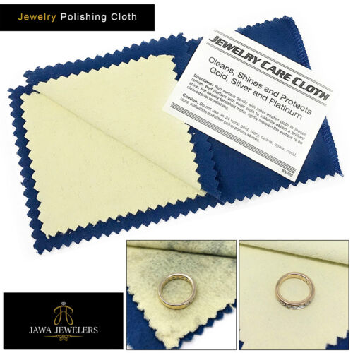 New Jewelry Cleaning Polishing Cloth Clean, Shine & Protects Silver Gold & Brass