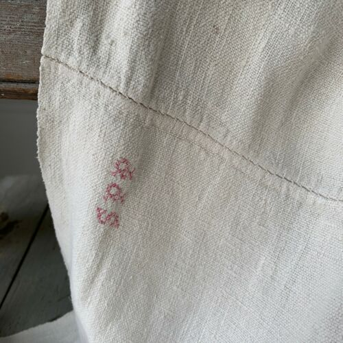 Antique French linen sheet 18th century 1700