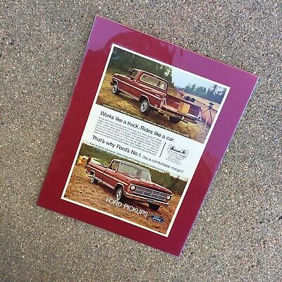 1968 Ford F-Series Truck: BLOOD RED DEAD EDITION!!! Vintage Print Ad ~8x10