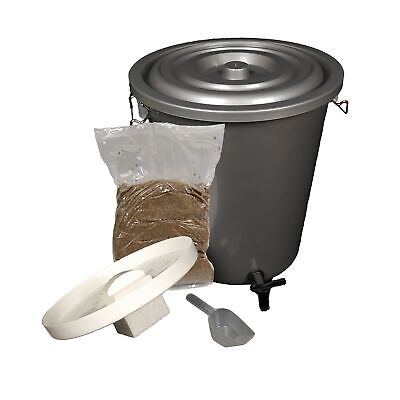 27L Single Bokashi Composter Kit with 2kg Bokashi Bran! Create Organic Compost!