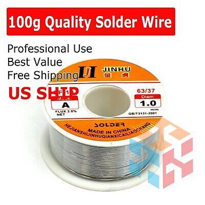 60-40 Tin Lead Rosin Core Solder Wire Soldering Sn60 Pb40 Flux .0391.0mm 100g