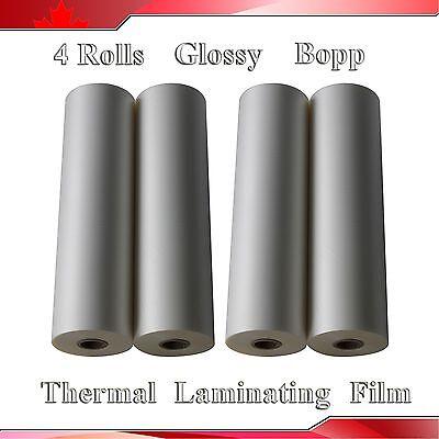 4roll 12.5x656 0.32x200m Glossy Uv Luster Hot Thermal Laminating Films Bopp