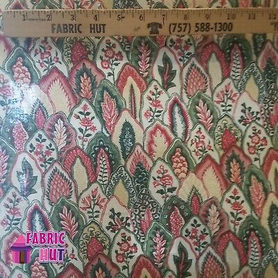 (Home Decor Dominique Laurel Floral Leaves Heavy Upholstery Fabric by the Yard)