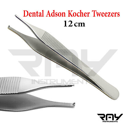 Dental Adson Tissue Forceps Kocher Tweezers Dermatology Thumb Surgical Lab New