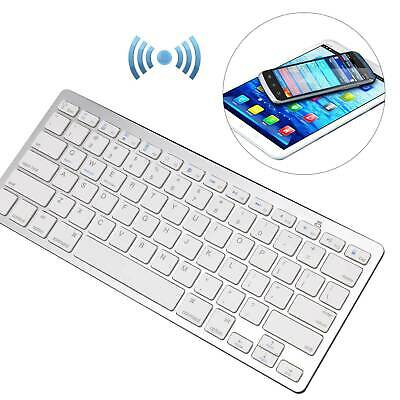 Slim Wireless Bluetooth Keyboard For iMac, iPad Android Smart Phone Tablet UK
