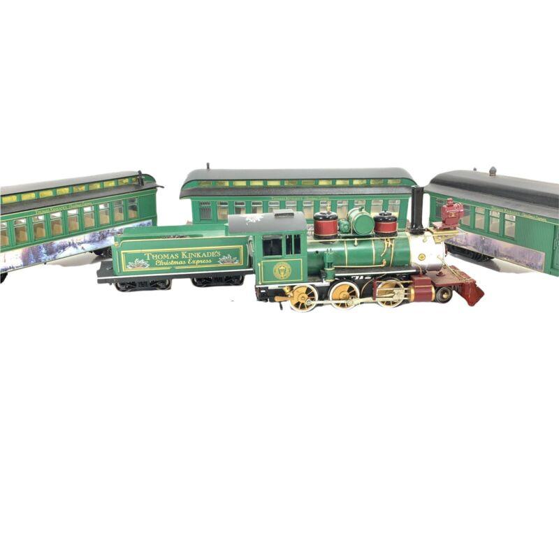 Thomas Kinkade Hawthorne Village Christmas Express Model Trains Holiday Bachmann