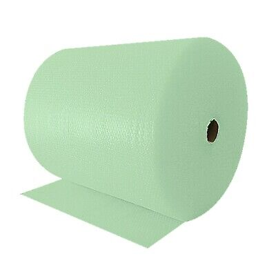 1 X 300MMX100M JIFFY GREEN RECYCLABLE POLYTHENE SMALL BUBBLE WRAP