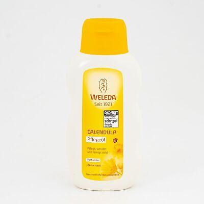 Calendula Bio Pflegeöl Parfümfrei Weleda 200 ml Hautpflege Babymassage vegan NEU