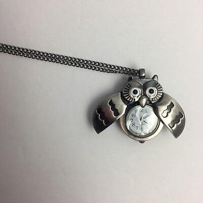 Rara Avis By Iris Apfel Owl Pendant Watch Chain HSN Stainless Steel Rare