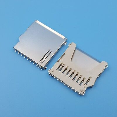 10pcs Sd Memory Card Socket Slot 11pin Pcb Mount Smt Solder Connector