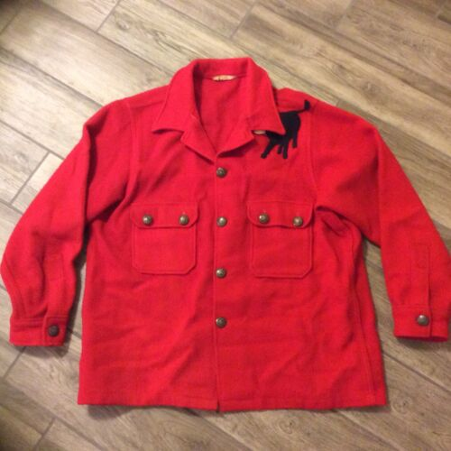 Official BSA red wool Jacshirt Size XXL (48) Boy Scouts of America