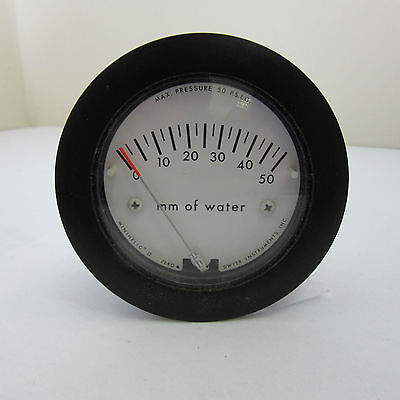 Minihelic mm H2O series 5000 pressure gage 0-50mm of water