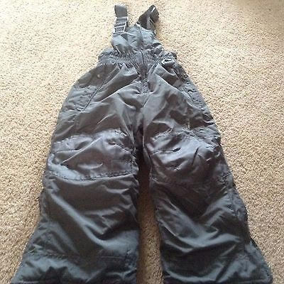 New rugged bear gray snow pants sz 2 3 bibs girls boys nwot ski
