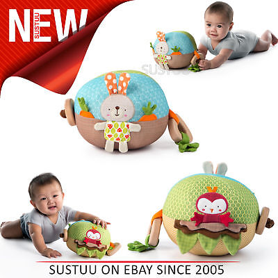 Bright Starts Garden Ball│Baby/ kid's Soft Plush Playtime Toy+Teether│With Sound