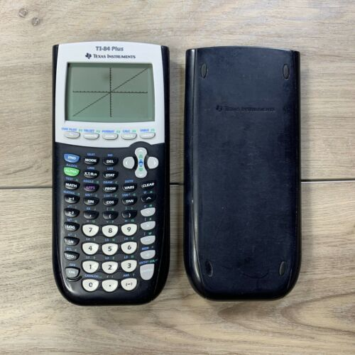 Texas Instruments TI-84 Plus Black Graphing Calculator Tested Works