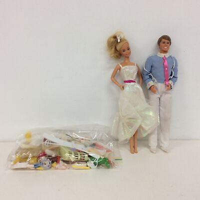 Retro Mattel The Family Dad Ken Doll & Crystal Barbie Doll 80's #573