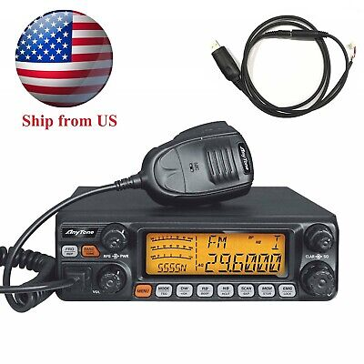 AnyTone 10 Meter Radio AT-5555N, Mobile Rig with SSB/FM/AM/PA Mode for Truck