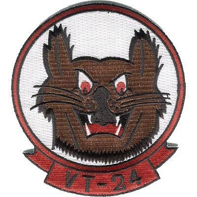 US Navy VT-24 Training Squadron Twenty Four Military Patch BOBCAT