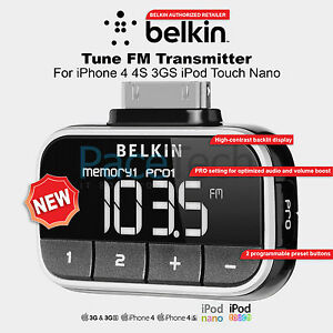 iphone fm transmitter belkin tune fm transmitter for iphone 4 4s 3gs ipod touch 11859