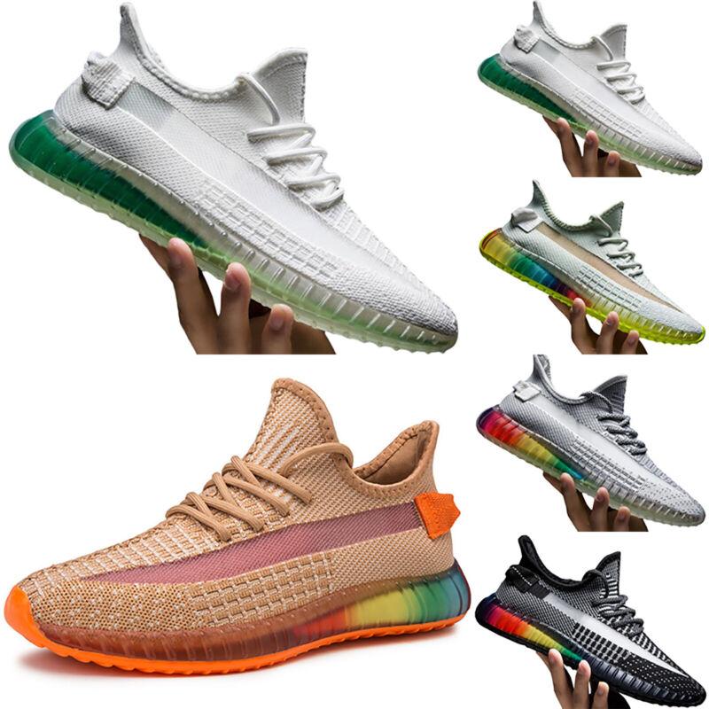 Herren Fitness Regenbogen Turnschuhe Schuhe Jungen Casual Gym Breathable Sports