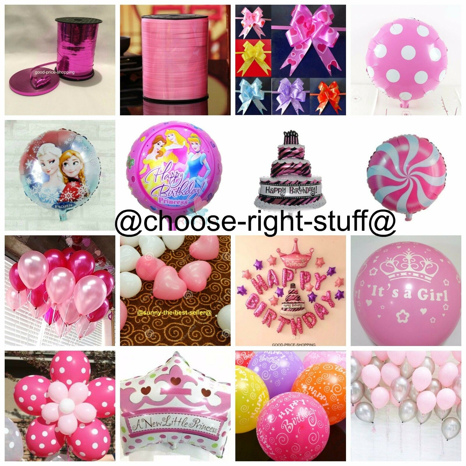 Pink Birthday Pack AL Minnie Mouse Foil Balloons Girl Birthd