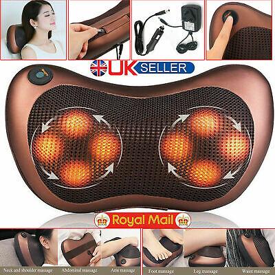 Eléctrico Lumbar Cuello Espalda Masaje Almohada Masajeador Almohadilla Calor