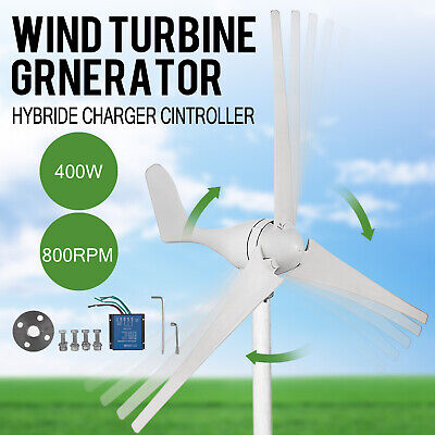 400W Hybrid Turbine Wind Generator 3 Blades 20A Perfect for Green Windmill Home