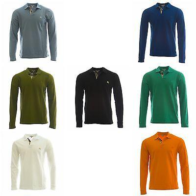 Burberry Brit Mens Nova Long Sleeve Polo Shirt  195 New