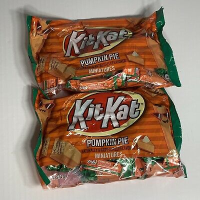 Kit Kat Pumpkin Pie Miniature Chocolate Bars Halloween - Kit Kat Halloween