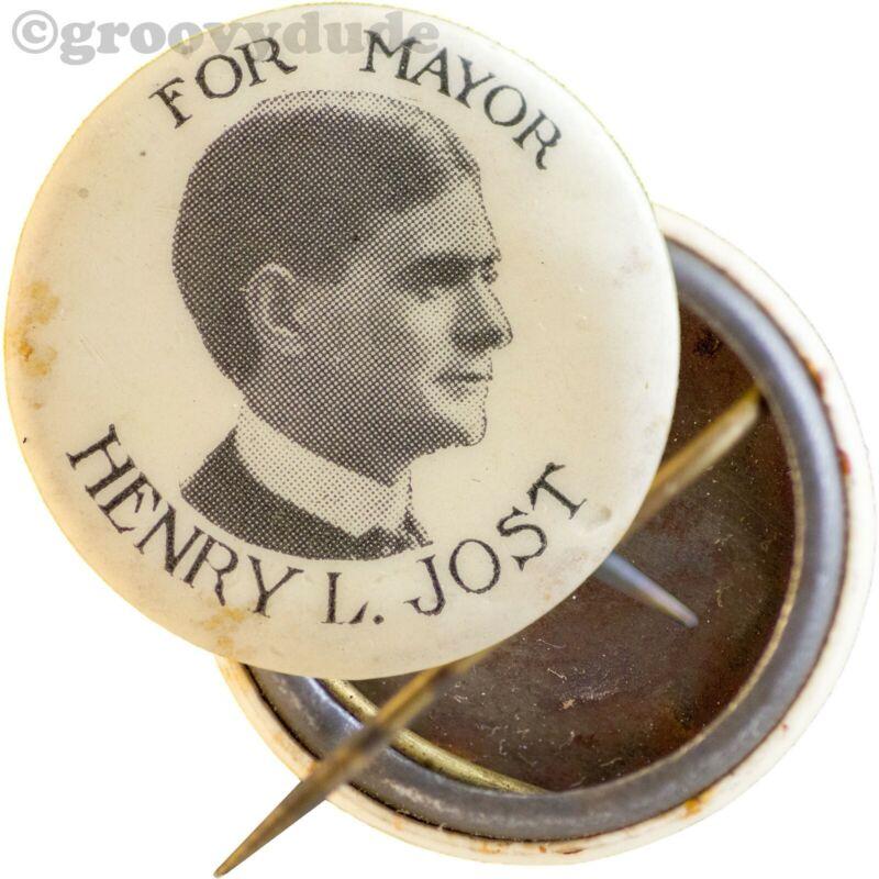 1912 Henry L. Jost For Mayor Kansas City Missouri MO Campaign Pin Pinback Button