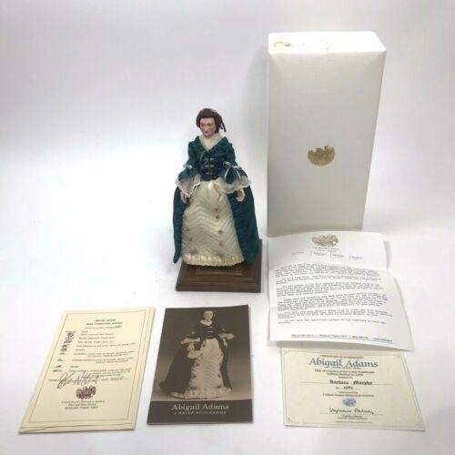 US Historical Society Abigail Adams Living Image Doll Certificate Original Box
