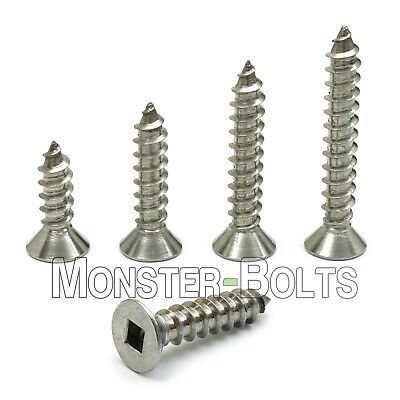 10 Stainless Steel Square Flat Head Self-tapping Type A Sheet Metal Screws 18-8