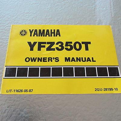 Yamaha OEM Owners Manual Book YFZ350T Moto4 ATV   126